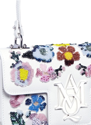 - Alexander McQueen - 'Insigna' floral embellished leather satchel