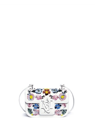 Main View - Click To Enlarge - Alexander McQueen - 'Insigna' floral embellished leather satchel