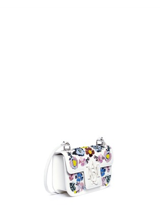 Figure View - Click To Enlarge - Alexander McQueen - 'Insigna' floral embellished leather satchel