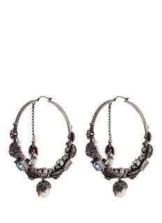 Alexander McQueenSwarovski crystal natural pearl creole earrings