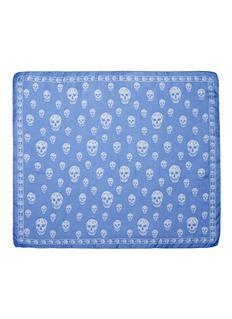 Alexander McQueenClassic skull silk chiffon scarf