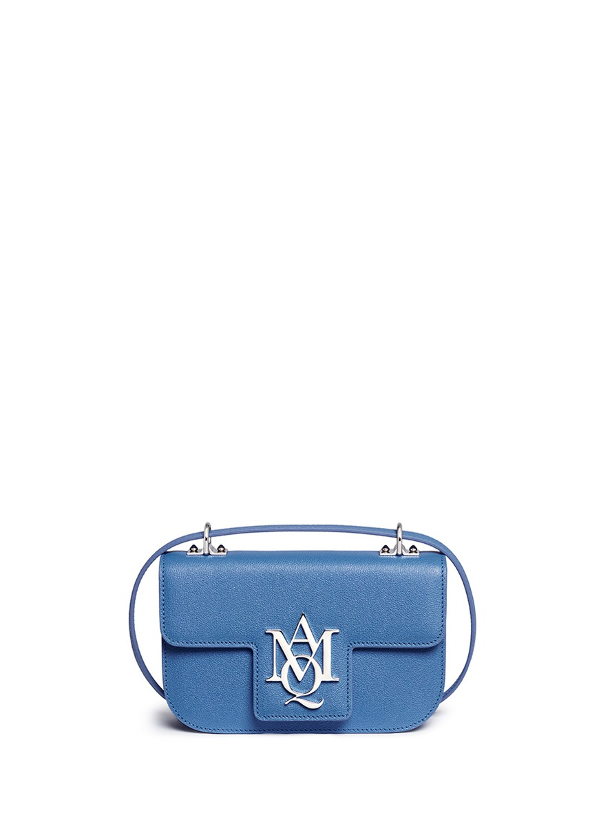 Insignia leather crossbody satchel by Alexander McQueen