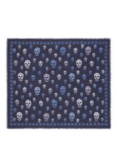 Alexander McQueenBicolour skull silk-modal scarf