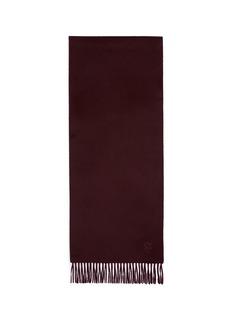 Alexander McQueenLogo embroidered cashmere scarf