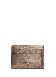 Alexander McQueenSkull metallic leather card holder