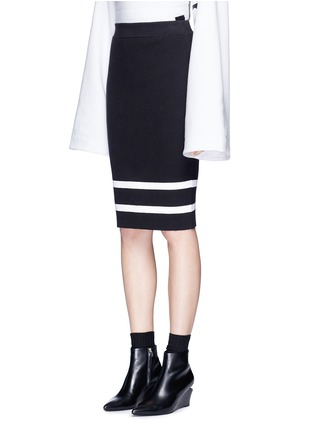 Front View - Click To Enlarge - FENTY PUMA by Rihanna - lacing stripe knit pencil skirt