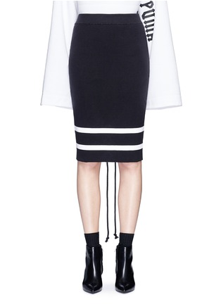Main View - Click To Enlarge - FENTY PUMA by Rihanna - lacing stripe knit pencil skirt