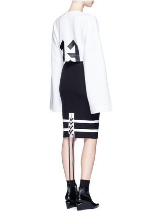 Figure View - Click To Enlarge - FENTY PUMA by Rihanna - lacing stripe knit pencil skirt