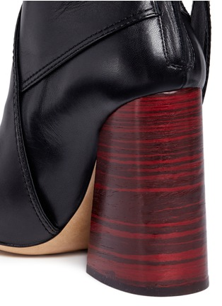 Detail View - Click To Enlarge - Ellery - 'Suzanna' oversized bow leather ankle boots