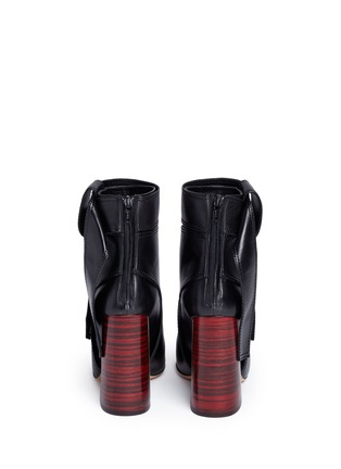 Back View - Click To Enlarge - Ellery - 'Suzanna' oversized bow leather ankle boots