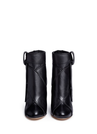 Front View - Click To Enlarge - Ellery - 'Suzanna' oversized bow leather ankle boots