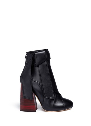 Main View - Click To Enlarge - Ellery - 'Suzanna' oversized bow leather ankle boots