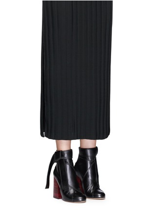 Figure View - Click To Enlarge - Ellery - 'Suzanna' oversized bow leather ankle boots