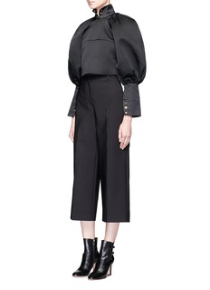 Ellery Corsette' balloon sleeve eyelet cropped top