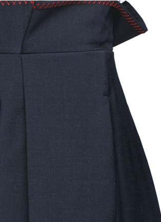 Detail View - Click To Enlarge - Ellery - 'Exploit' paperbag waist wide leg pants