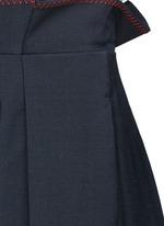 'Exploit' paperbag waist wide leg pants