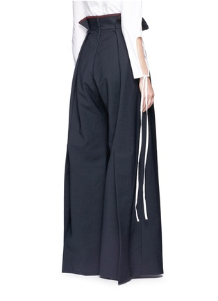 Back View - Click To Enlarge - Ellery - 'Exploit' paperbag waist wide leg pants