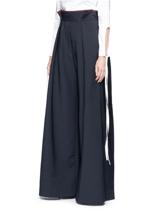 Front View - Click To Enlarge - Ellery - 'Exploit' paperbag waist wide leg pants
