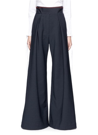 Main View - Click To Enlarge - Ellery - 'Exploit' paperbag waist wide leg pants
