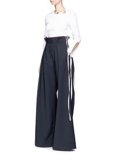 Ellery'Exploit' paperbag waist wide leg pants