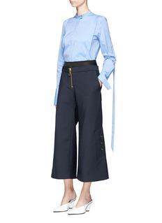 Ellery'O'hara' satin waist cropped wide leg pants