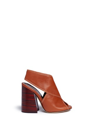 Main View - Click To Enlarge - Ellery - 'Winston' ankle cuff leather sandals