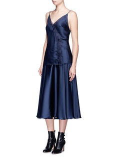 Roksanda'Hedder' silk satin seersucker skirt