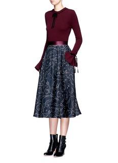 Roksanda'Heanor' contrast velvet bow wool-cashmere sweater
