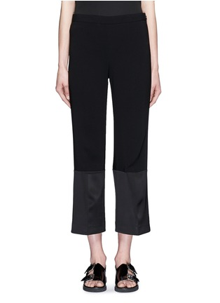 Main View - Click To Enlarge - Theory - 'Laleenka C' satin cuff cropped pants