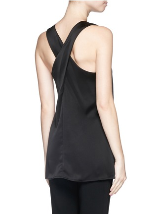 Back View - Click To Enlarge - Theory - 'Parieom' satin sleeveless tunic