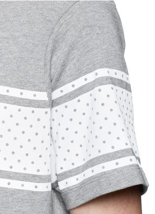 DENHAM-'Bolt Stripe' print cotton T-shirt
