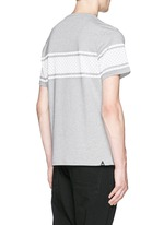 'Bolt Stripe' print cotton T-shirt