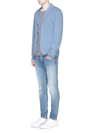 模特儿示范图 - 点击放大 - DENHAM - 'Kelvin Cat' reinforced sleeve blazer