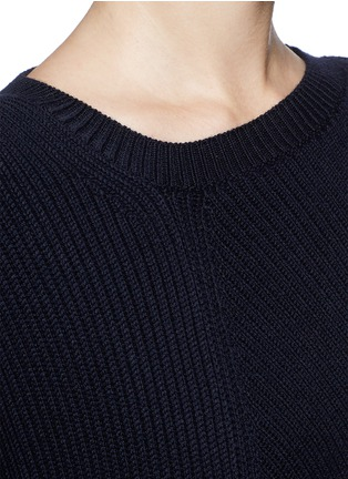 Detail View - Click To Enlarge - Stella McCartney - Asymmetric hem wool chunky sweater dress