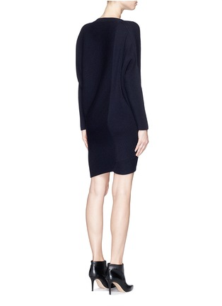 Back View - Click To Enlarge - Stella McCartney - Asymmetric hem wool chunky sweater dress