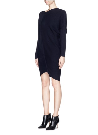 Front View - Click To Enlarge - Stella McCartney - Asymmetric hem wool chunky sweater dress