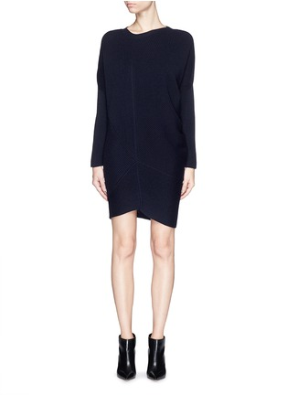 Main View - Click To Enlarge - Stella McCartney - Asymmetric hem wool chunky sweater dress