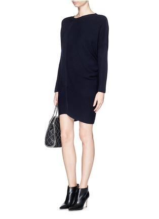 Figure View - Click To Enlarge - Stella McCartney - Asymmetric hem wool chunky sweater dress