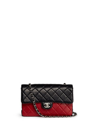 Main View - Click To Enlarge - Vintage Chanel - Colourblock quilted lambskin leather flap bag
