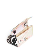Vintage Chanel embellished quilted canvas flap bag