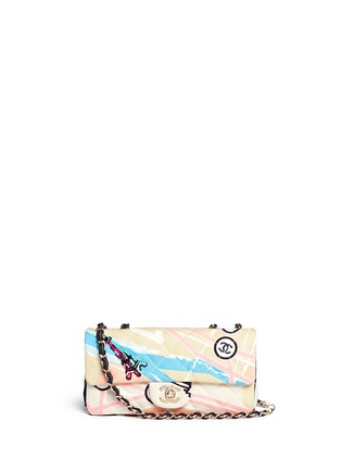 Main View - Click To Enlarge - Vintage Chanel - Embellished quilted canvas flap bag