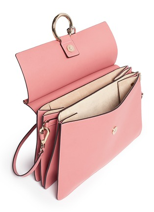 Detail View - Click To Enlarge - Chloé - 'Fay' medium suede flap leather shoulder bag