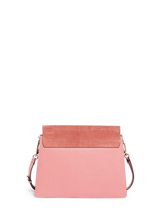 Back View - Click To Enlarge - Chloé - 'Fay' medium suede flap leather shoulder bag