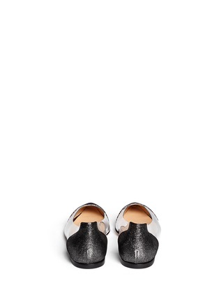 Back View - Click To Enlarge - Gianvito Rossi - Clear PVC metallic foil suede flats