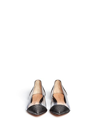 Figure View - Click To Enlarge - Gianvito Rossi - Clear PVC metallic foil suede flats