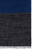 Stripe cotton-wool-silk scarf