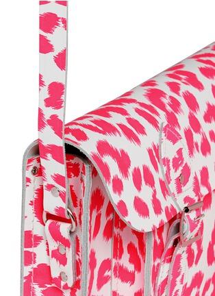 Detail View - Click To Enlarge - CAMBRIDGE SATCHEL - Punk-A-Rama' small leopard print leather shoulder bag