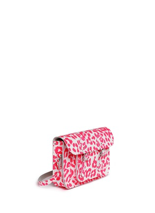 Front View - Click To Enlarge - CAMBRIDGE SATCHEL - Punk-A-Rama' small leopard print leather shoulder bag
