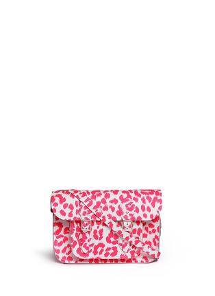 Main View - Click To Enlarge - CAMBRIDGE SATCHEL - Punk-A-Rama' small leopard print leather shoulder bag