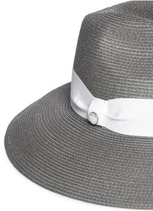 Detail View - Click To Enlarge - Armani Collezioni - Contrast ribbon hat